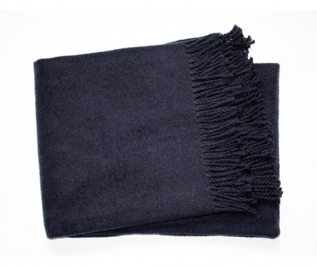 Pokrivač Basics Plain Navy Blue 140x180 cm