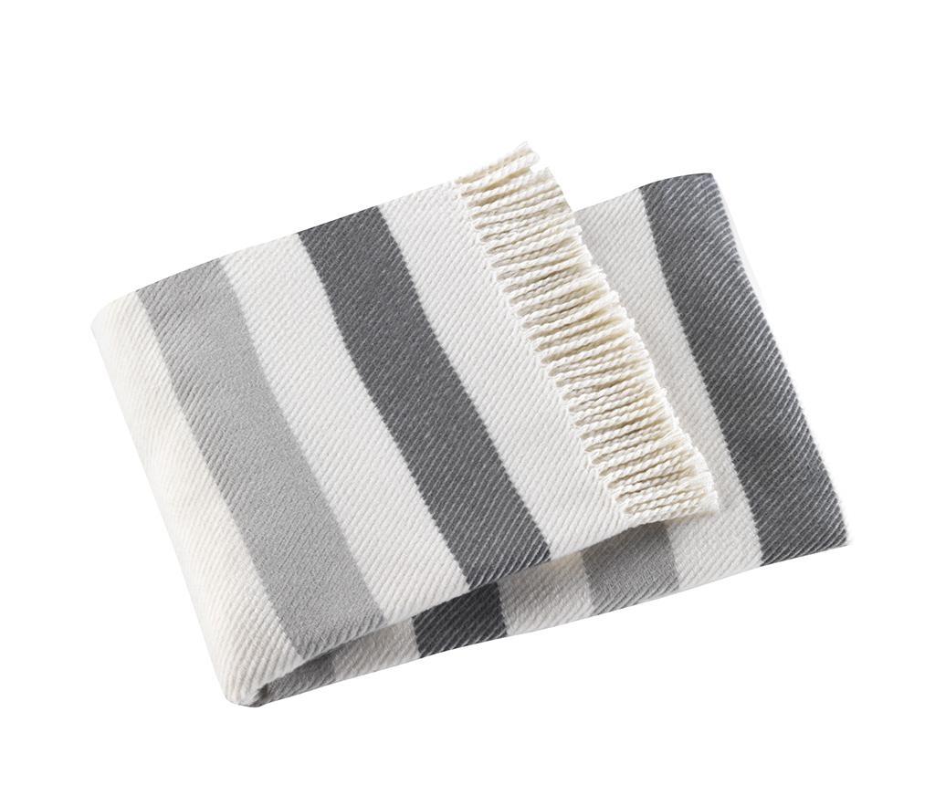 Sweet Stripe Mid Grey Pléd 140x180 cm