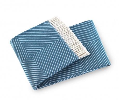 Priročna odeja Tebas Lagoon Blue 140x180 cm