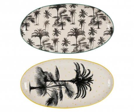 Set 2 platouri Tropical Vintage Large