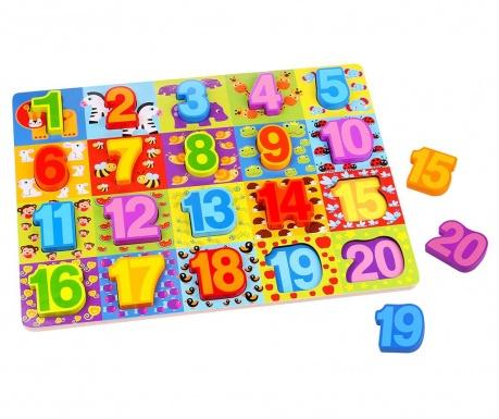 Igra tipa slagalice 20 dijelova Numbers