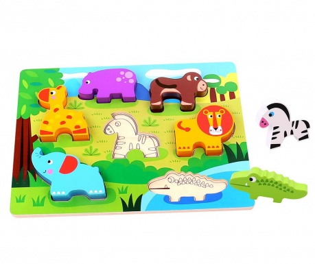 Joc tip puzzle 7 piese Chunky Puzzle Animal