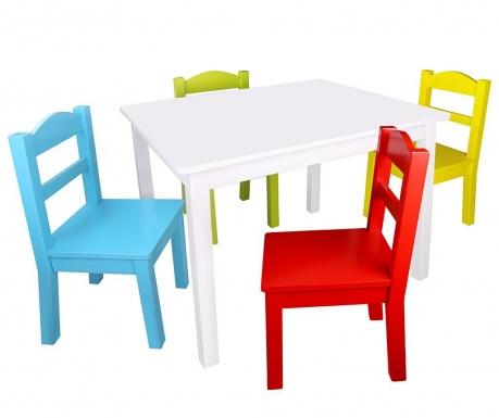 Set masa si 4 scaune pentru copii Happy Colors