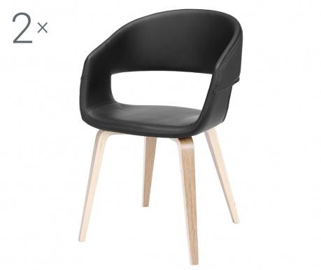 Set 2 stolice Nova Black