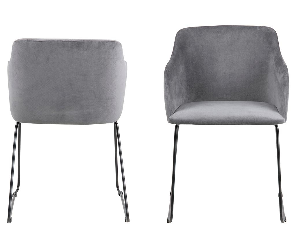Set 2 stolice Casablanca Grey