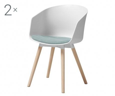 Set 2 stolice Moon White Blue