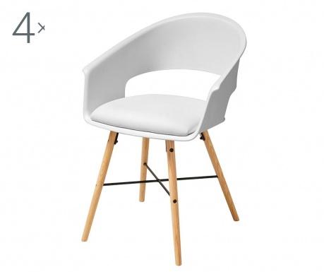 Set 4 stolice Ivar White