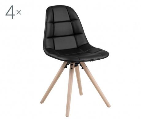 Set 4 stolice Lotta Black