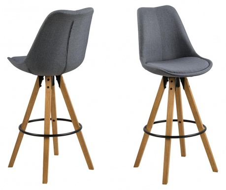 Sada 2 barových stoličiek Dima Grey