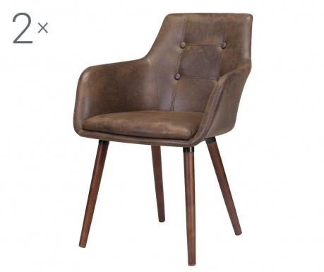 Set 2 stolice Johannesburg Brown