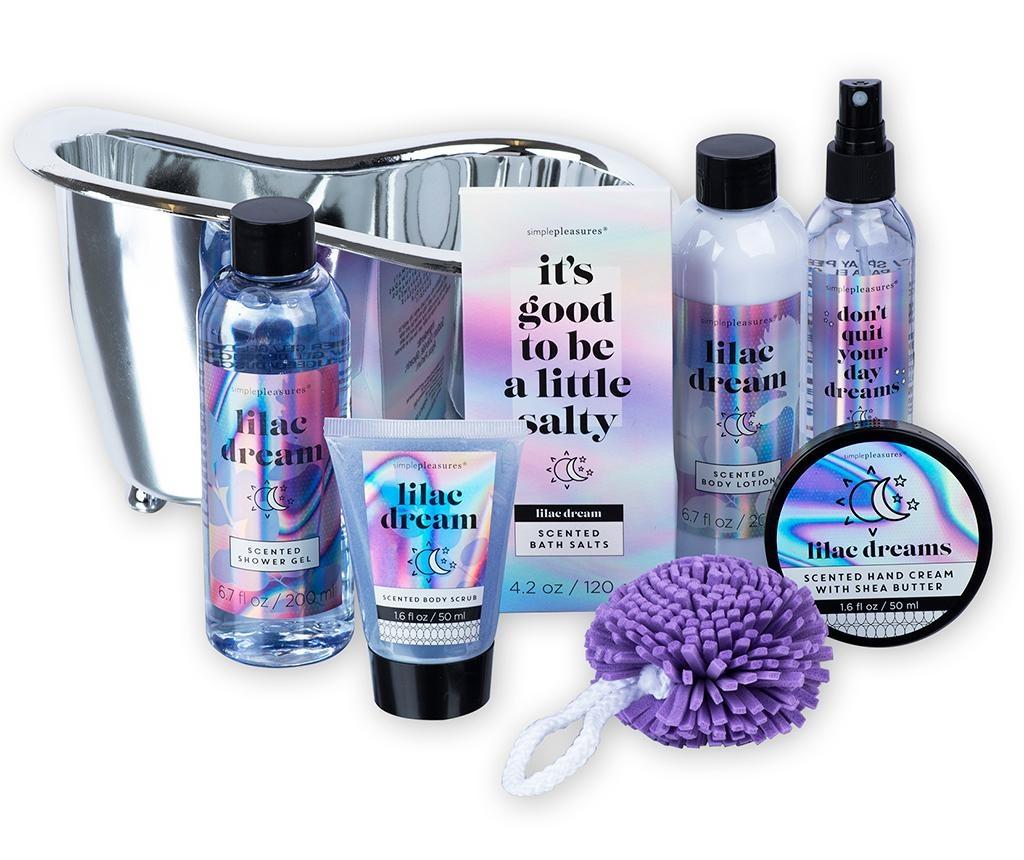 7-dijelni set kozmetičkih proizvoda za tijelo  i držač Lilac Dream