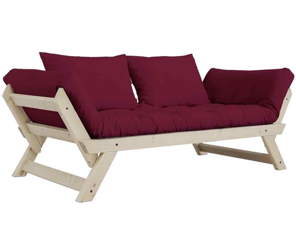 Sofa extensibila Bebop Natural & Bordeaux