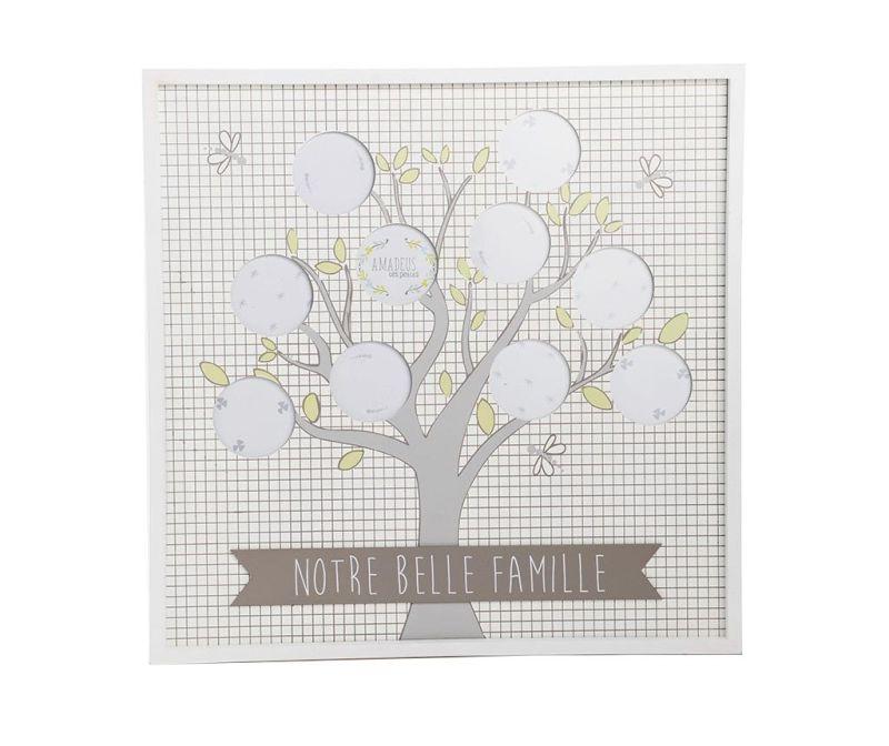 Okvir za 10 fotografij Belle Famille Squares White