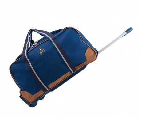 Jasper Navy Gurulós bőrönd 40 L