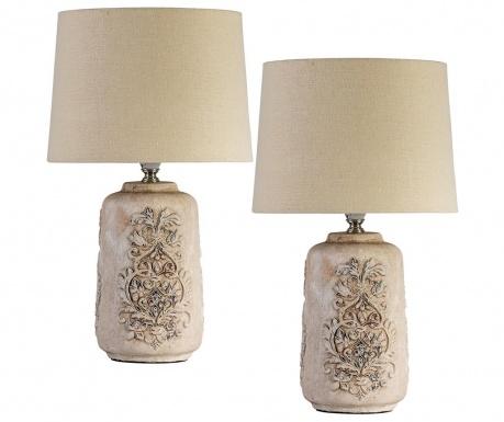 Sada 2 nočné lampy Relief