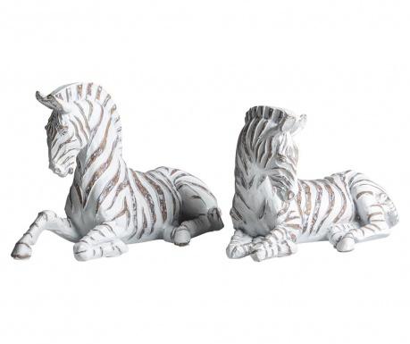 Zebra 2 db Dísztárgy