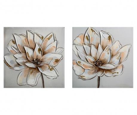 Sada 2 obrazov Flower 40x40 cm