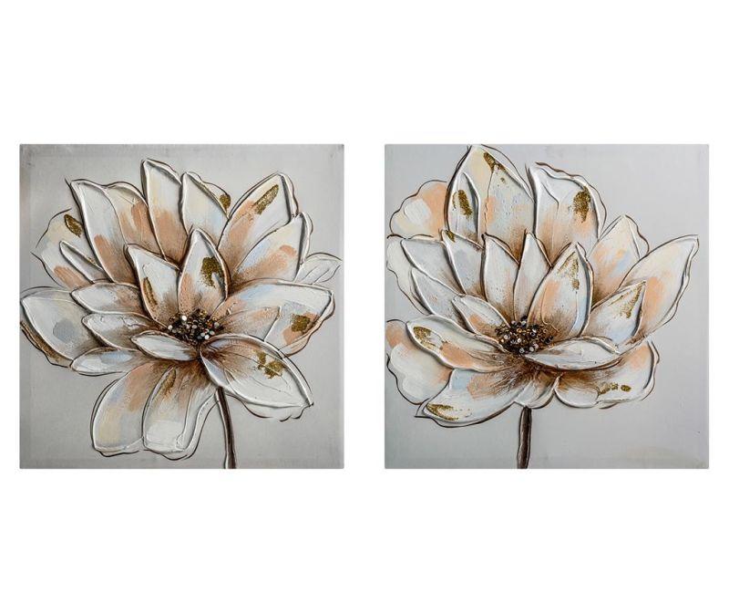 Комплект 2 картини Flower 40x40 см