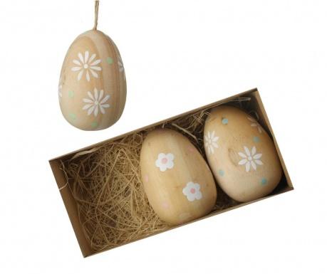 Set 3 decoratiuni suspendabile Flower Egg