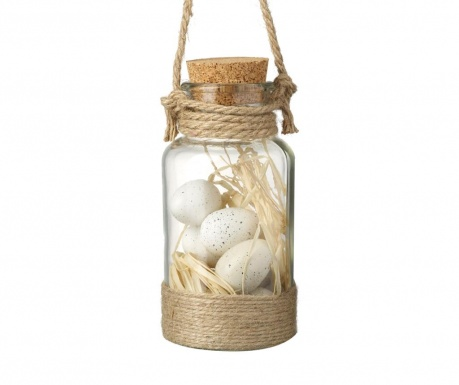 Decoratiune suspendabila Jar Eggs