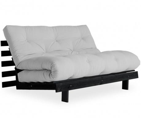 Sofa extensibila Roots Black & Light Grey 140x200 cm