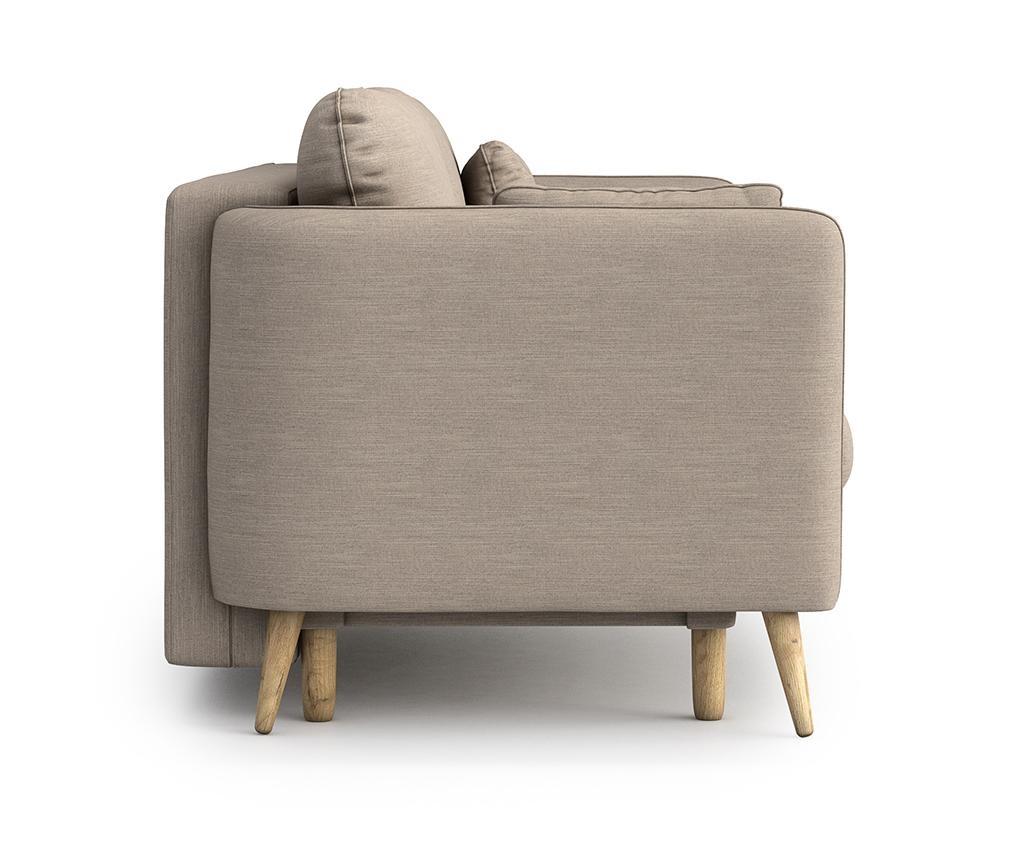 Canapea extensibila 3 locuri Clara Melva Cream