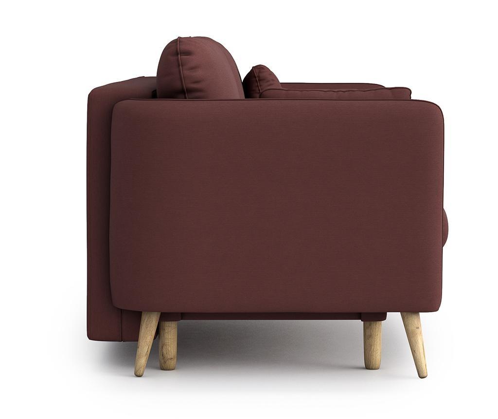 Canapea extensibila 3 locuri Clara Melva Red