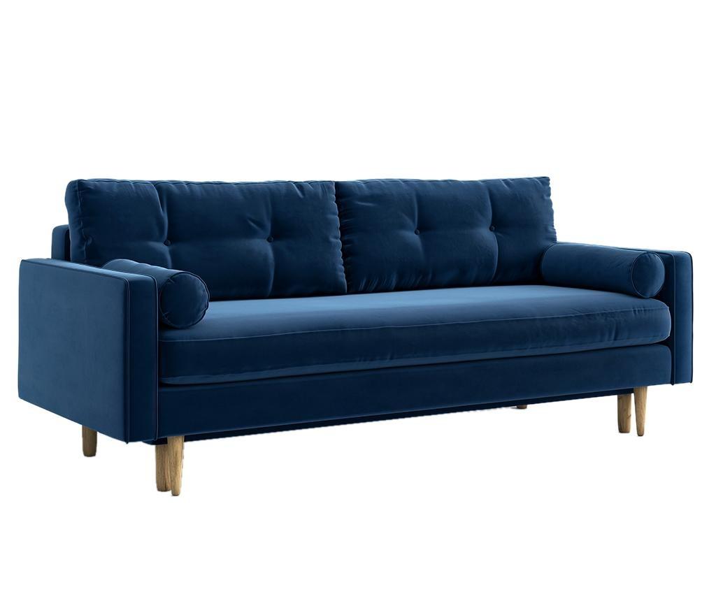 Разтегателно триместно канапе Esme Riviera Blue