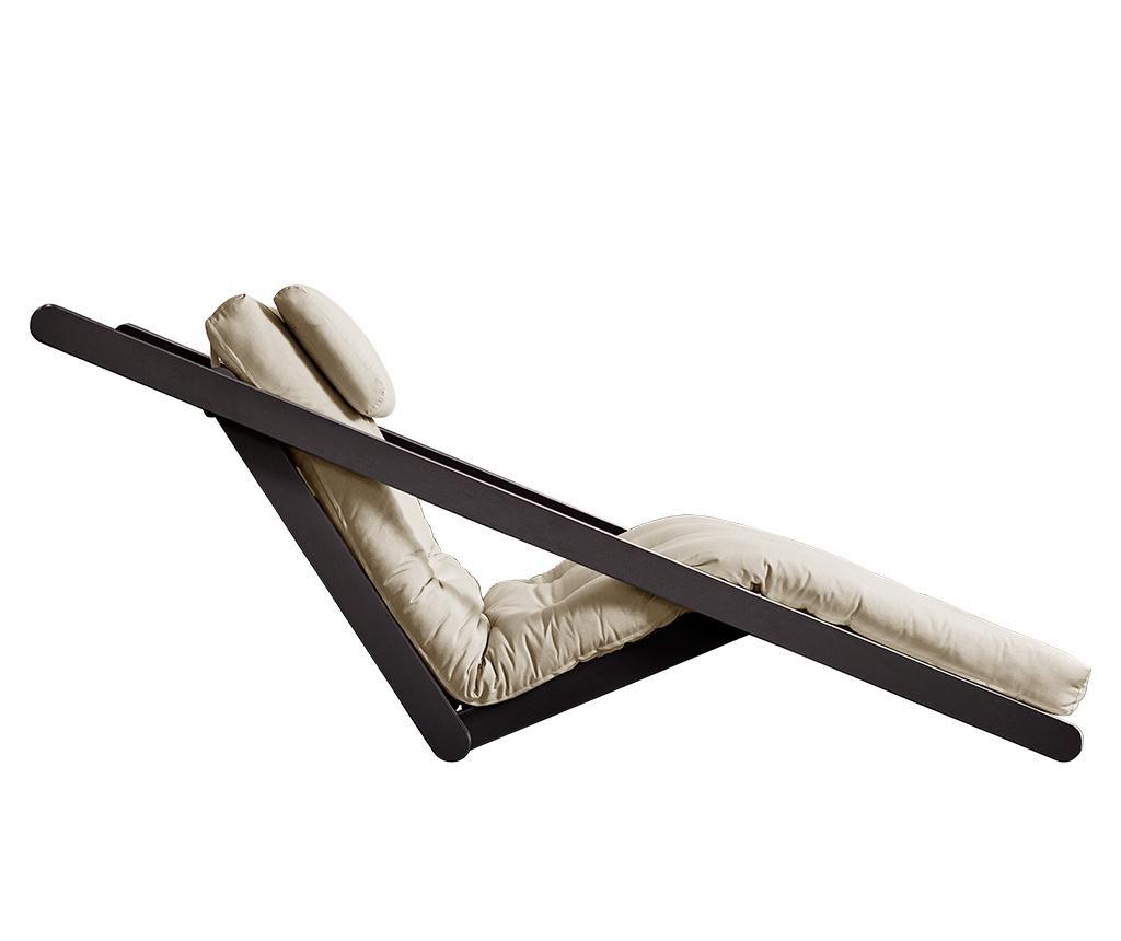 Raztegljiv počivalnik za dnevno sobo Figo Black & Beige 70x200 cm