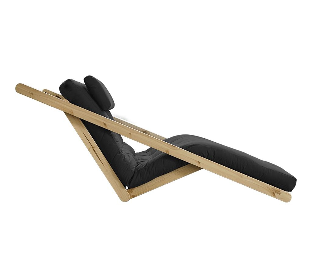 Figo Natural & Dark Grey Kihúzható nappali heverő 120x200 cm