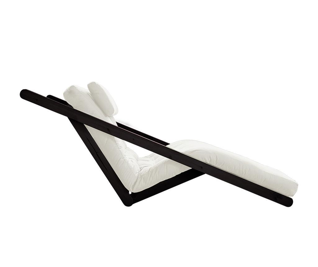 Figo Black & Natural Kihúzható nappali heverő 120x200 cm