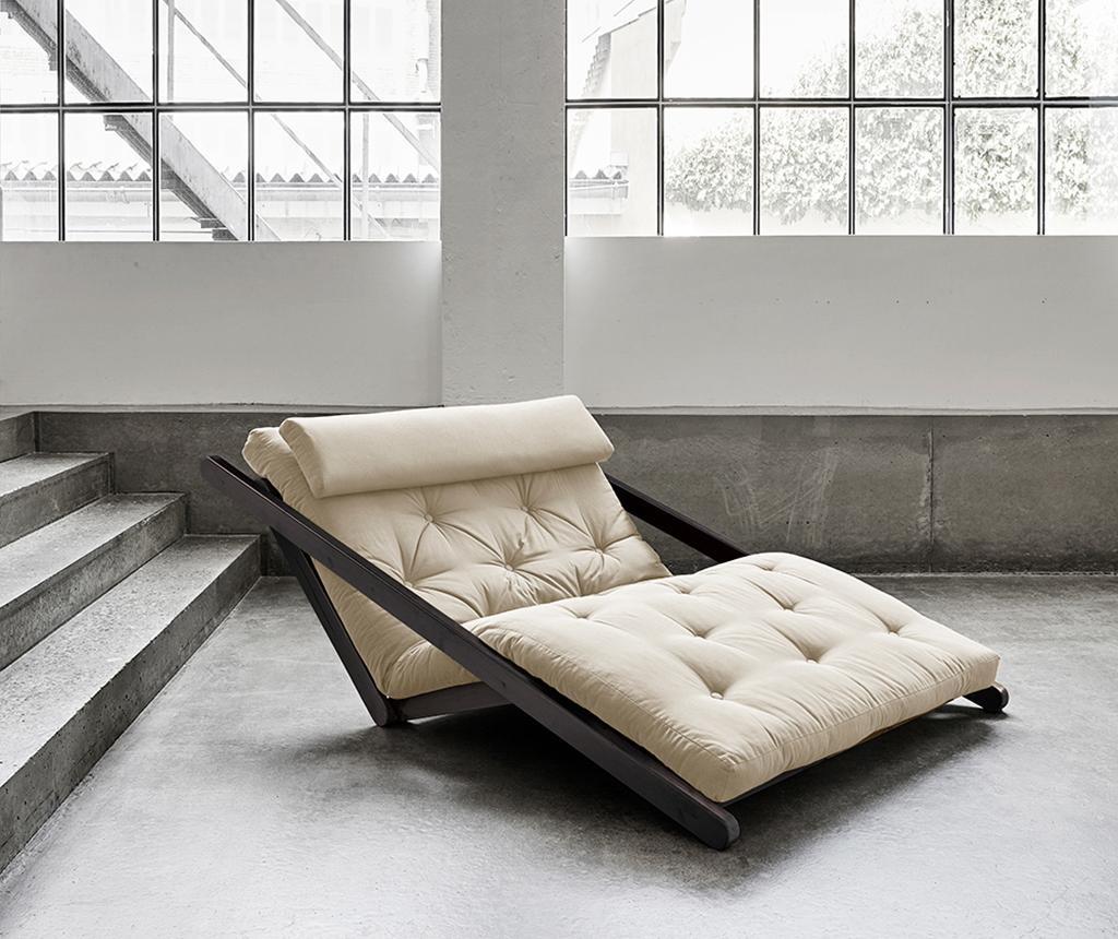 Figo Black & Beige Kihúzható nappali heverő 120x200 cm