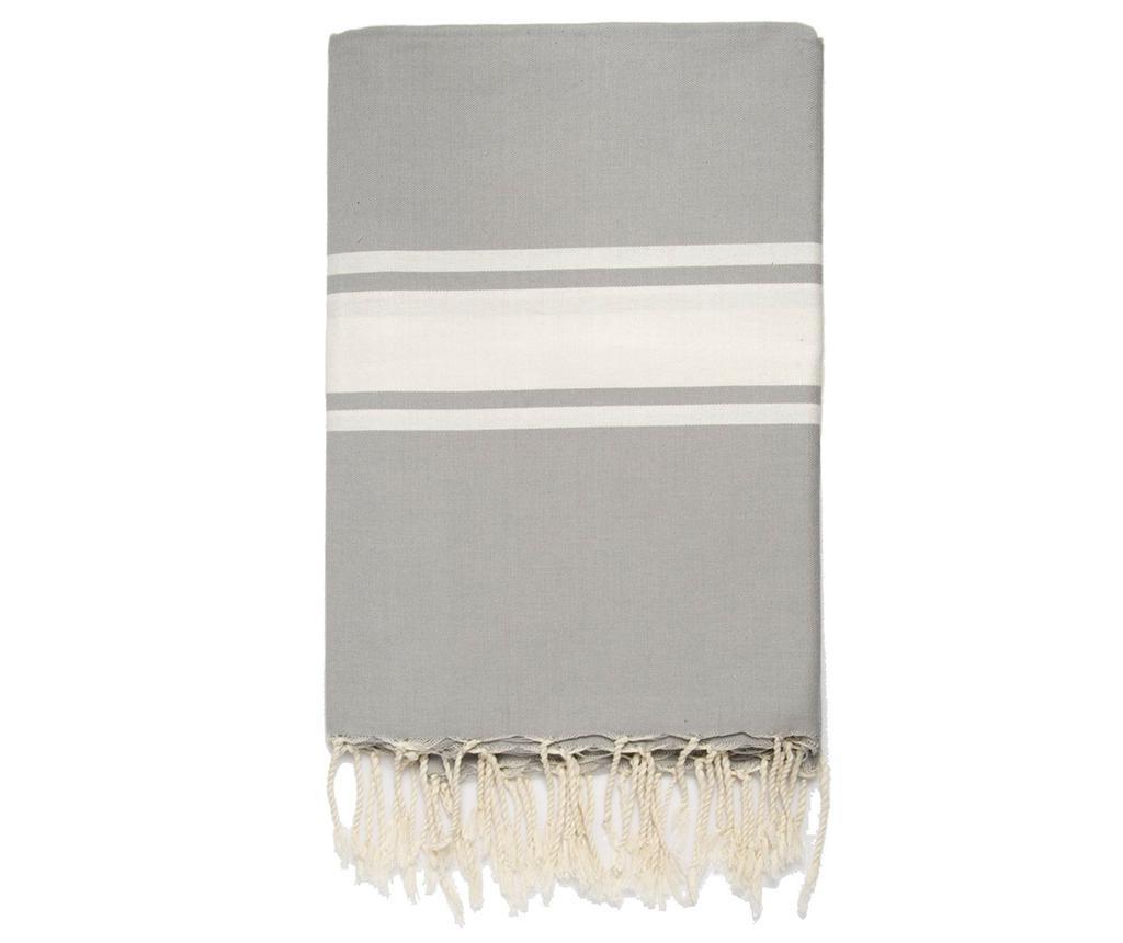 Pled Fouta Saint Tropez Pearl Grey 150x250 cm