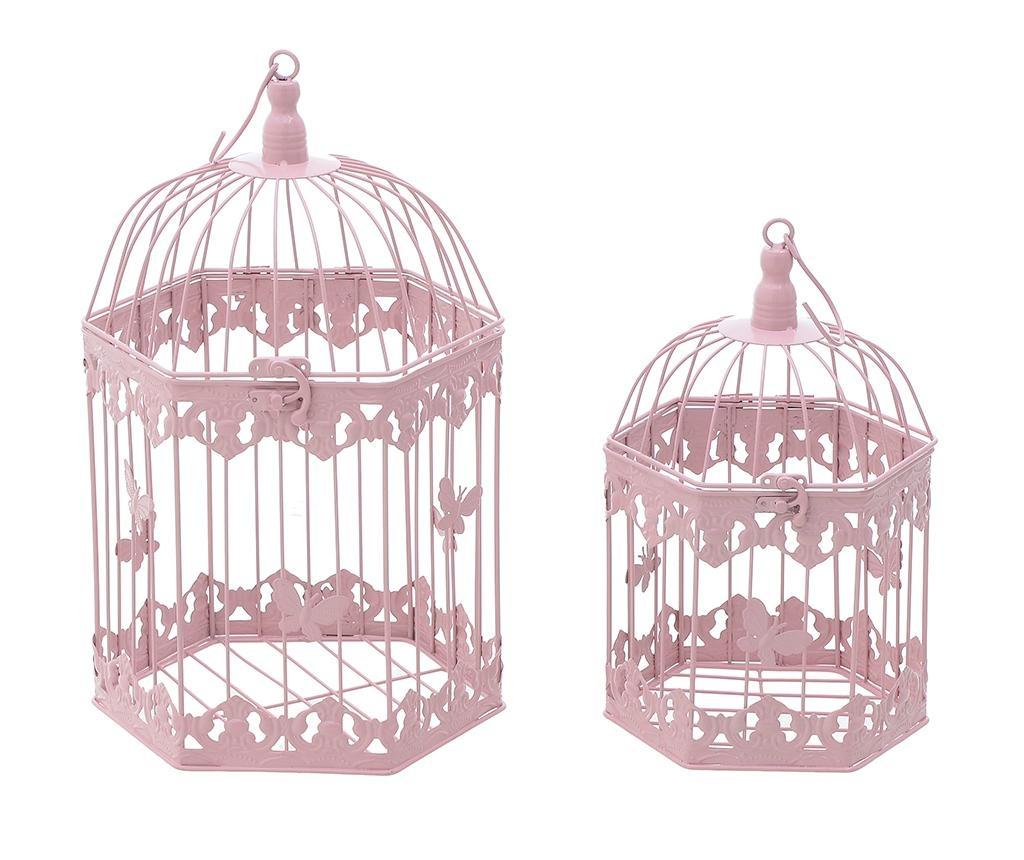 Set 2 ukrasne krletke Freya Pink