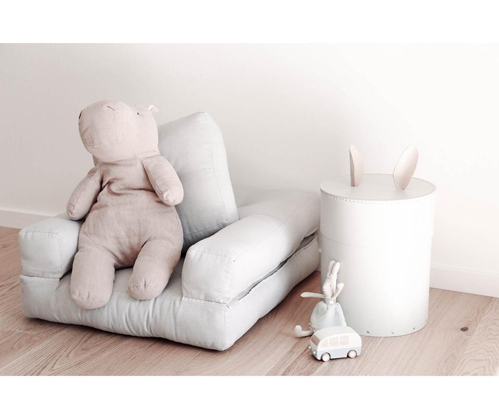 Fotel rozkładany dla dzieci Mini Cube Pink Peonie 60x135 cm