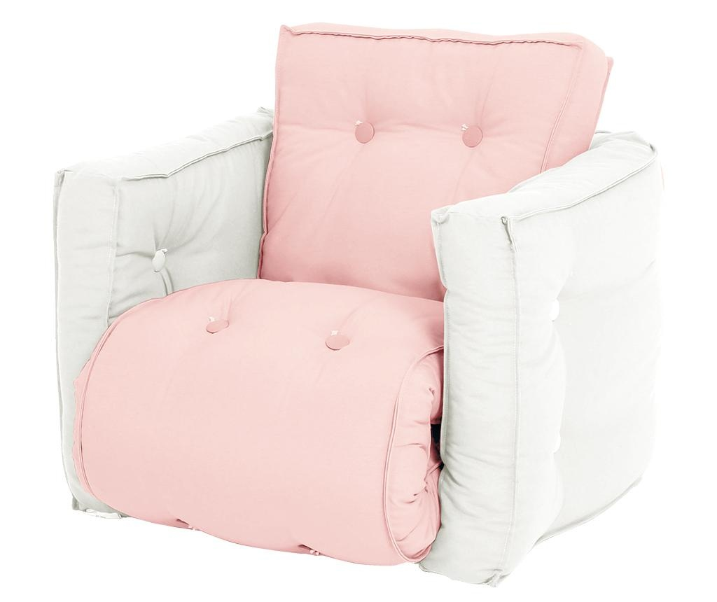 Raztegljiv otroški naslanjač Mini Dice Pink Peonie 40x140 cm