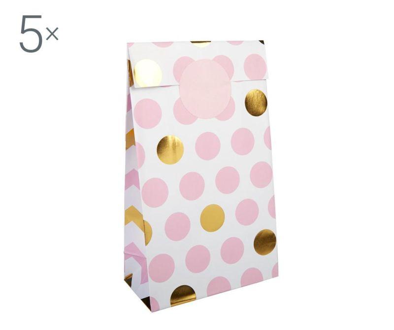 Set 5 omotnica za vjenčanje Pattern Works Dots Pink