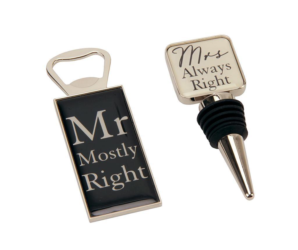 Set - zamašek in odpirač za steklenice Mostly Right