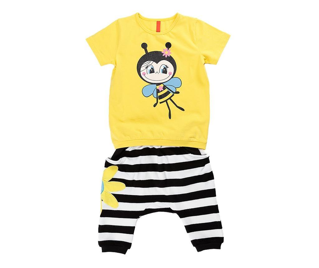 Set tricou si pantaloni trei sferturi pentru copii Bee Maya Baggy 4 years