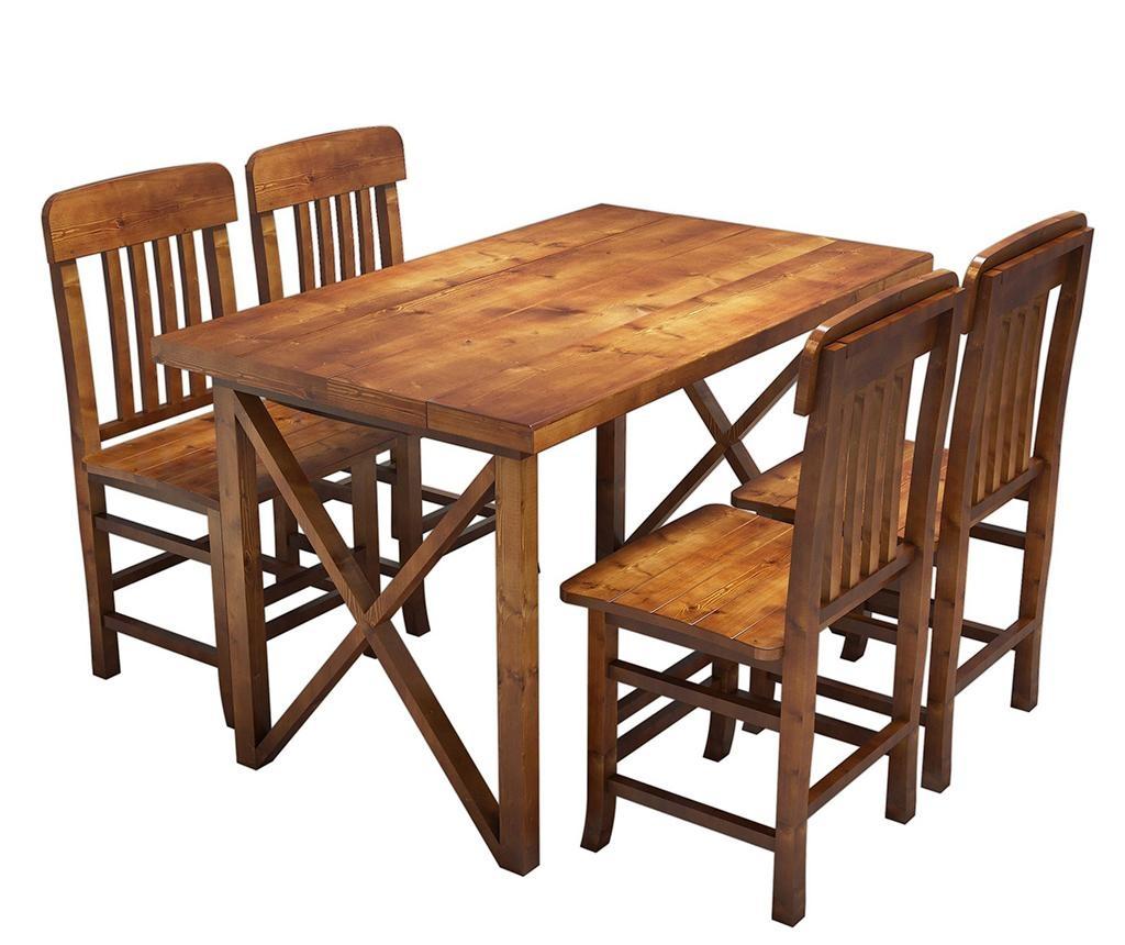 Sada stůl a 4 židlí Family