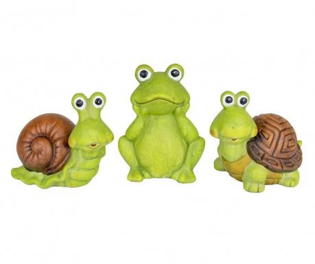 Zestaw 3 dekoracji zewnętrznych Turtle Frog Slug