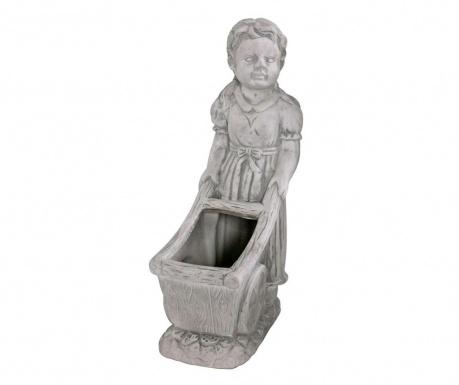 Osłonka na doniczkę Girl With Cart