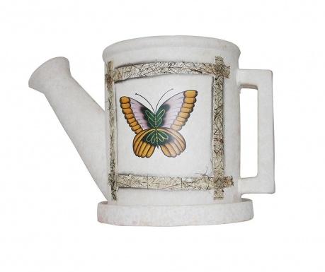 Okrasni cvetlični lonec s pladnjem Butterfly
