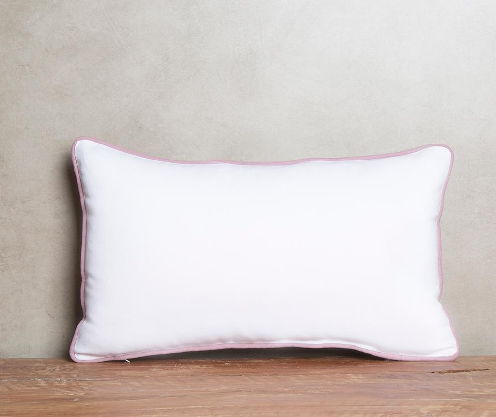 Perna decorativa Crissya White and Pink 40x60 cm