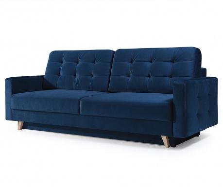 Vegas Dark Blue Háromszemélyes kihúzható kanapé