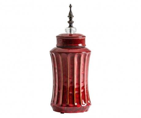 Vas decorativ cu capac Aeneas Tall Red