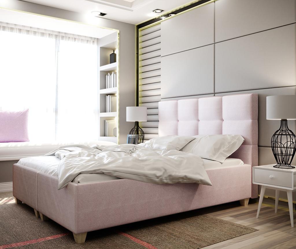 Pat cu somiera rabatabila Italia Pink 180x200 cm