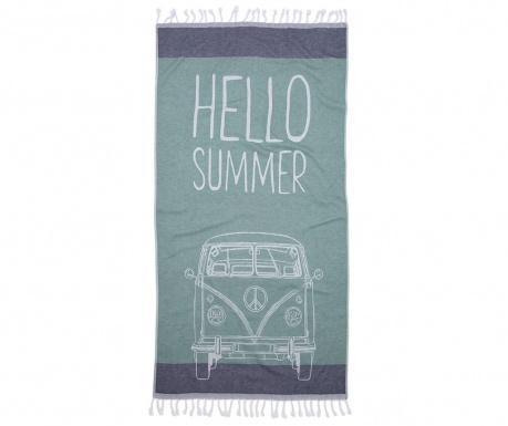 Plážový uterák Hamam Hello Green 90x180 cm