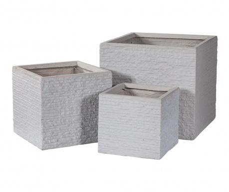 Комплект 3 поставки за саксии Concrete Wall