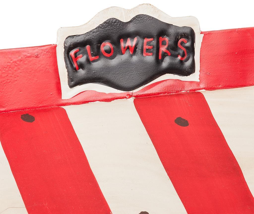 Držač za posude za cvijeće Vintage Cart Flowers